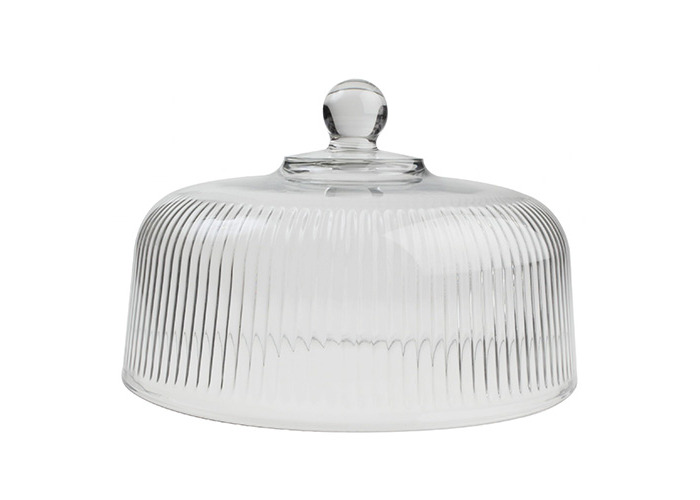 T&G Woodware Ribbed Glass Dome Food Cover 13050 - 1