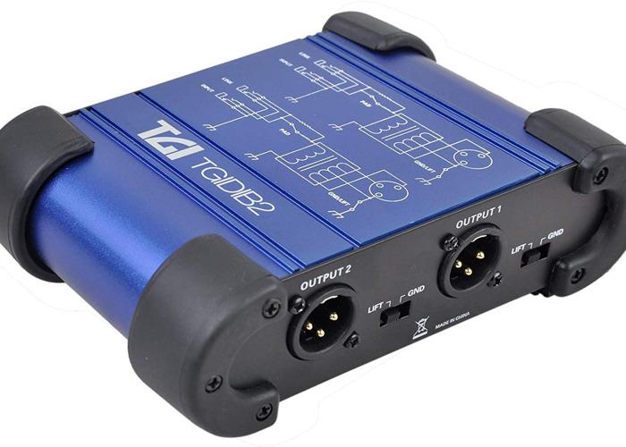 TGI Dual Channel Passive DI Box for instruments or DJ's - 2