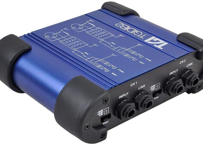 TGI Dual Channel Passive DI Box for instruments or DJ's - 1