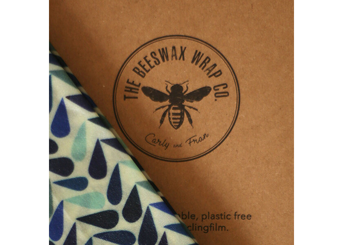 The Beeswax Wrap Co. Beeswax Dewdrop Print Bread Wrap - 2