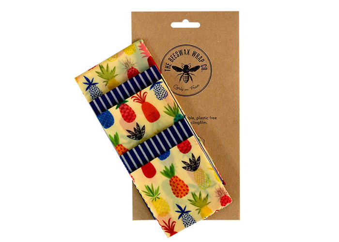 The Beeswax Wrap Co. Beeswax Wrap Pineapple Print Large Kitchen Pack - 1