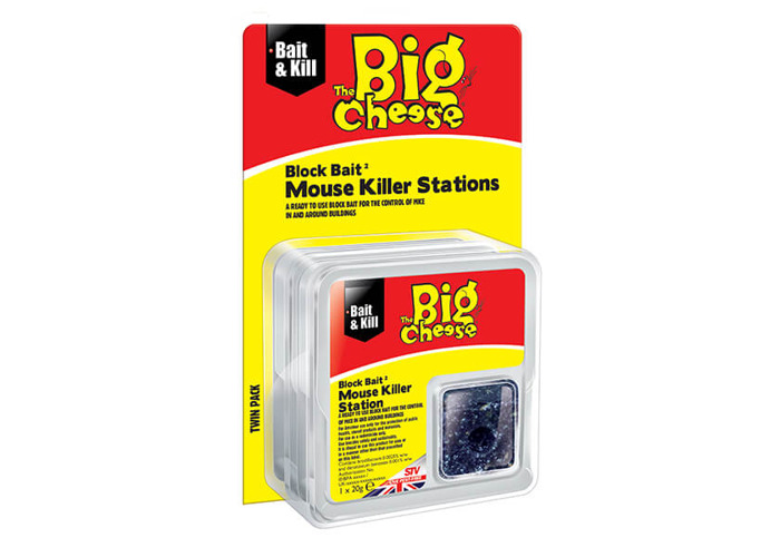 The Big Cheese All-Weather Block Bait 2 Mouse Killer Stations - 1