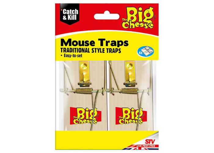 The Big Cheese Wooden Mouse Trap Pack Of 4 - 1