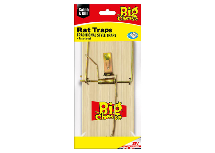 The Big Cheese Wooden Rat Trap Pack Of 2 - 1