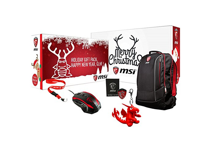 The MSI SkyLake 17in Laptop / Notebook Christmas Bundle Includes Steel Series Kinzu V3 62313 Mouse, 17in MSI Hecate Backpack, Lanyard and Keyring 957-178211E-001 - 1