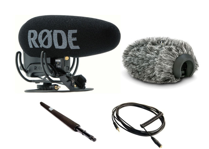 The RODE VideoMic Pro+ / 3m boom pole / dead cat wind shield - 2