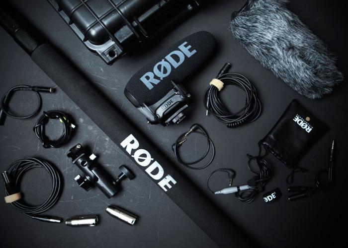 The RODE VideoMic Pro+ / 3m boom pole / dead cat wind shield - 1