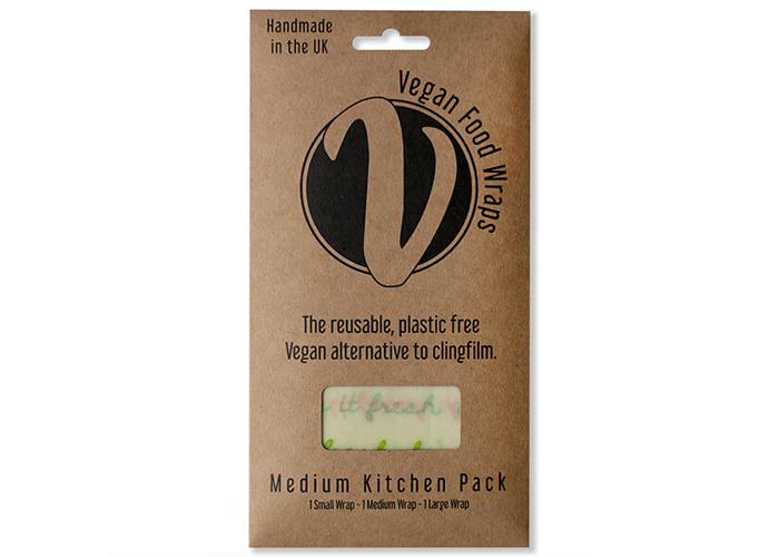 The Vegan Food Wraps Co. Vegan Wax Wrap Medium Kitchen Pack - 1