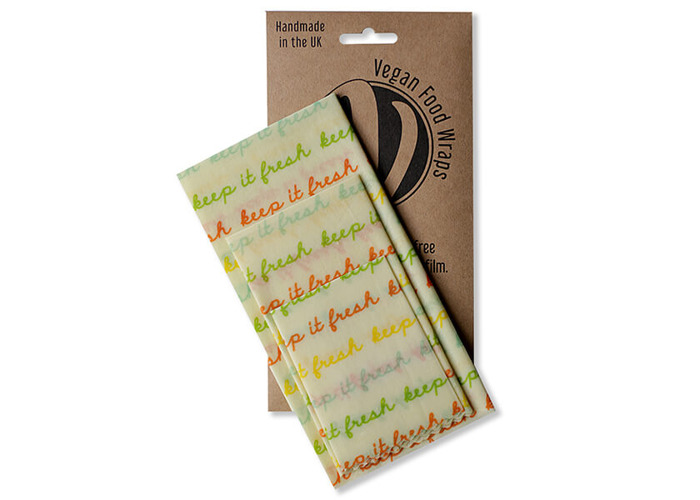 The Vegan Food Wraps Co. Vegan Wax Wrap Medium Kitchen Pack - 2