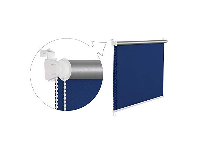 Thermal Blackout Navy Blue Window Roller Blind 120cm Wide(plus 4.5cm fittings) by 150cm Drop - 1