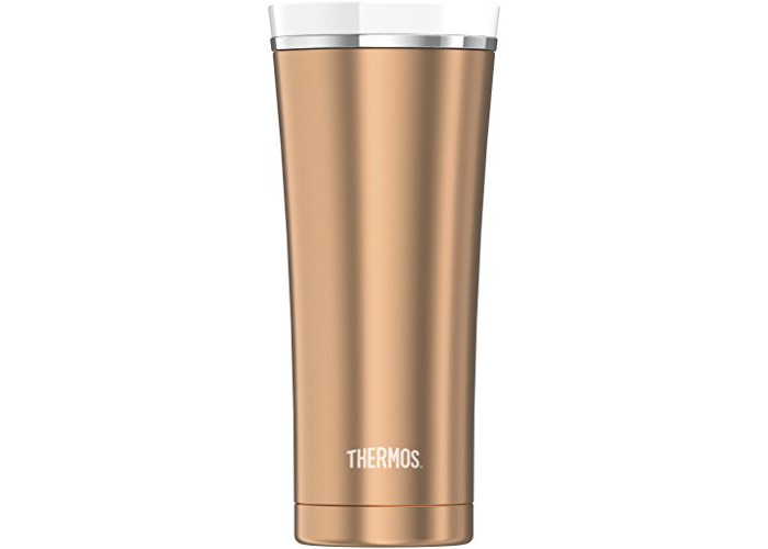 Thermos Stainless Steel Travel Tumbler, Rose Gold, 470 ml - 1