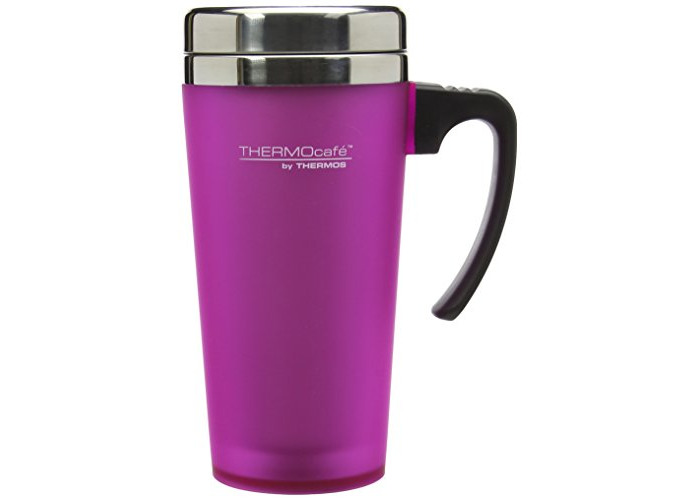 Thermos ThermoCafé Soft Touch Travel Mug, Pink, 420 ml - 1