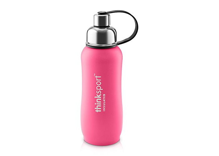 Thinksport 750ml Insulated Sports Bottle, Coated Dark Pink, 25 oz - 2