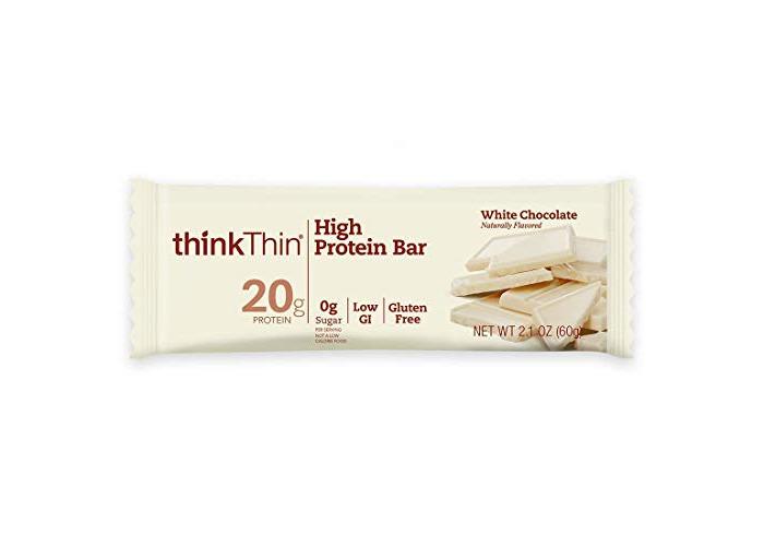 thinkThin High Protein Bars, White Chocolate, 2.1 oz Bar (10 Count) - 1