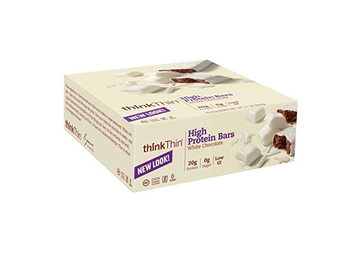 thinkThin High Protein Bars, White Chocolate, 2.1 oz Bar (10 Count) - 2