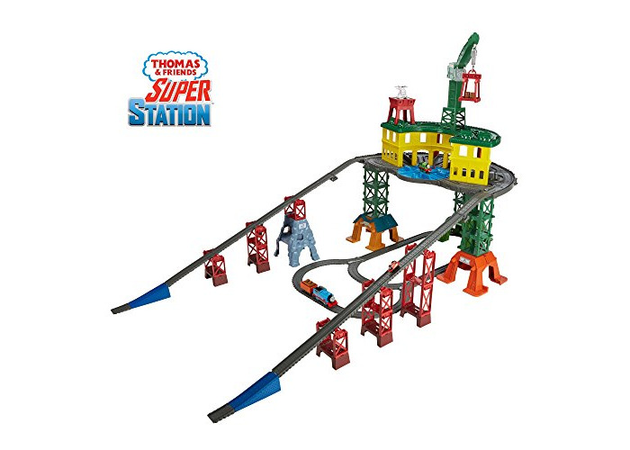 Thomas & Friends FGR22 Super Station, Thomas the Tank Engine Toy Train Set and Railway Track, Mini Wooden Adventures, 3 Year Old - 1