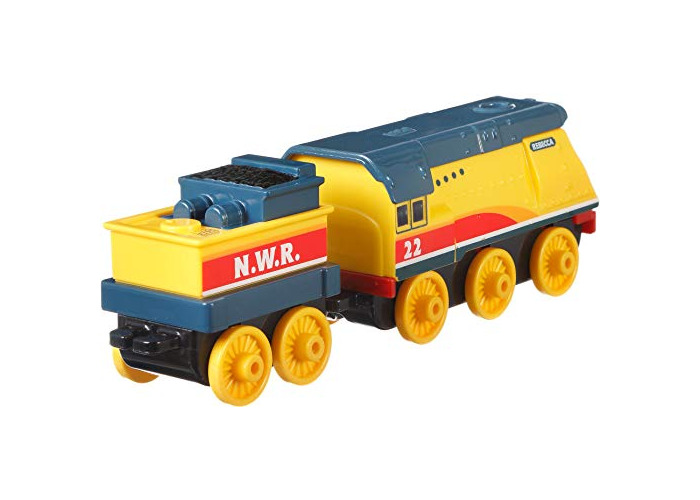 Thomas & Friends FXX27 Trackmaster Push Along Rebecca Metal Train Engine, Multi-Colour - 2
