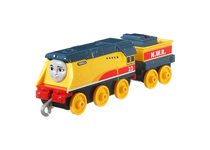 Thomas & Friends FXX27 Trackmaster Push Along Rebecca Metal Train Engine, Multi-Colour - 1