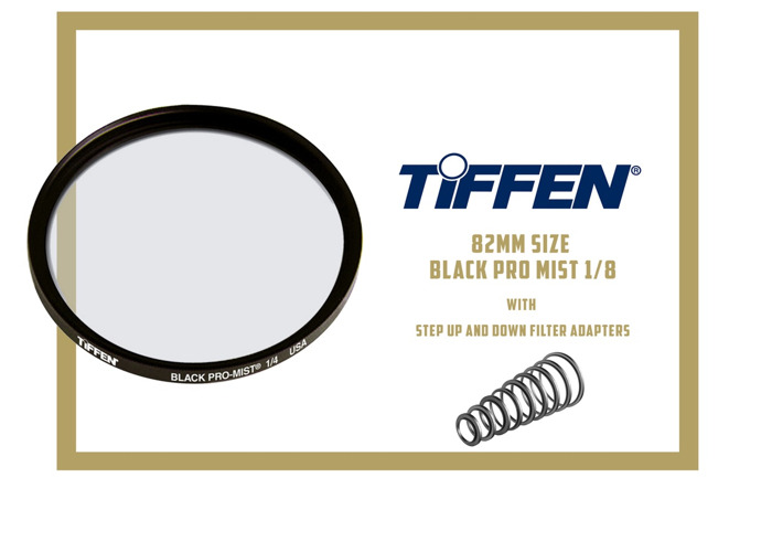 TIFFEN BLACK PRO MIST 1/8 FILTER (82MM SIZE) WITH 16 PCS STEP / DOWN ADAPTERS - 1