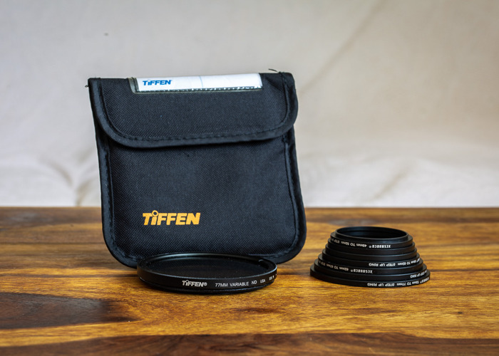 Tiffen variable 77mm ND Filter with adapter rings - 1
