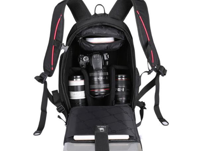 Tigernu Camera Anti theft backpack Black/Black - 1