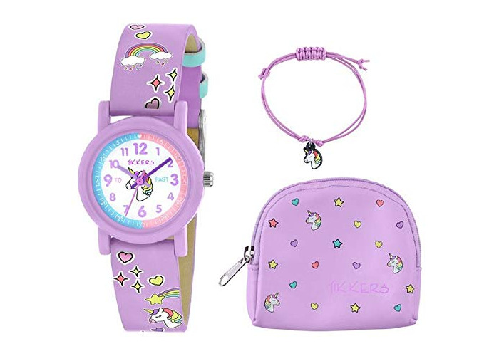 Tikkers Lilac Unicorn Watch, Necklace and Purse Set - 1