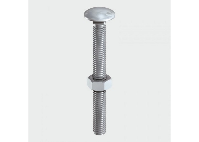 TIMco 1075CBSSP Carriage Bolt SS 10 x 75mm Bag of 3 - 1