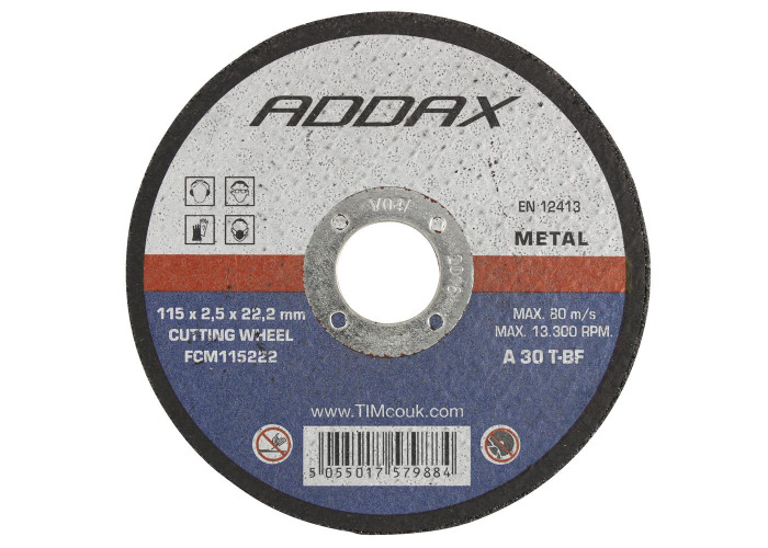 Timco B/Abrasive Flat Wheel - Metal   230 x 22.2 x 3.2 - 25 Pieces - 1