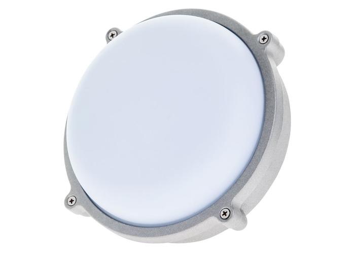 Timeguard LED 15W Round Energy Saver Bulkhead Light - Silver - 1