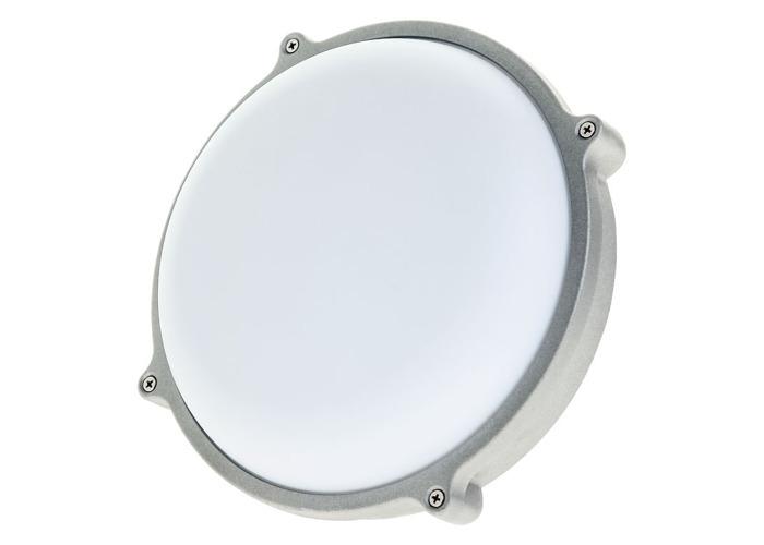 Timeguard LED 25W Round Energy Saver Bulkhead Light - Silver - 1