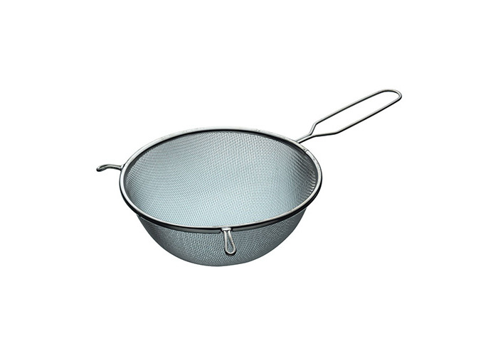 Tinned Round Strainer and Sieve with Wire Handle Size: 20 cm - 1