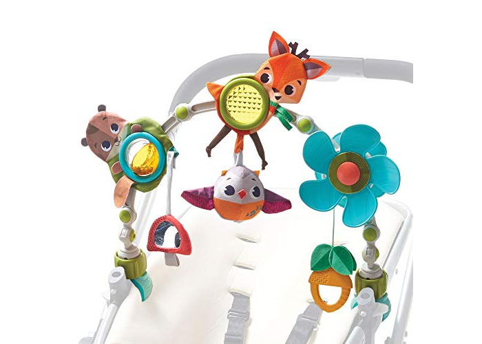 Tiny Love Musical Nature Stroll Activity Arch, Stroller Arch with Animal Toys, 0 Month +, Universal Attachment Clips Fit any Pram, Pushchair or Baby Car Seat, Into the Forest - 1