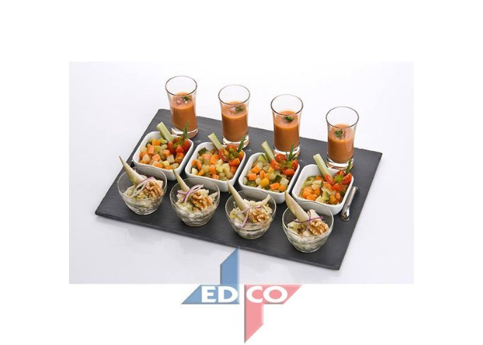 Tish Appetizer 13pc Set With Slate Plate - 1