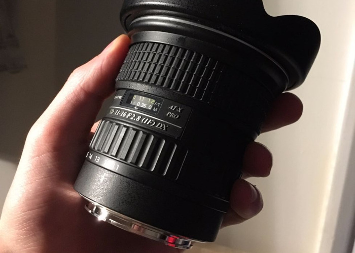 Tokina 11-16mm 2.8 Wide Angle Canon EF-S Fit Lens - 1