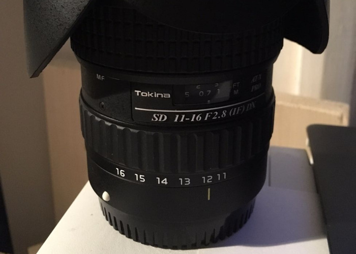 Tokina 11-16mm 2.8 Wide Angle Canon EF-S Fit Lens - 2