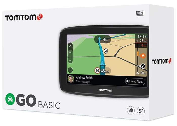 """TomTom GO BASIC 5"""" WiFi Smart Sat Nav GPS - 1"""