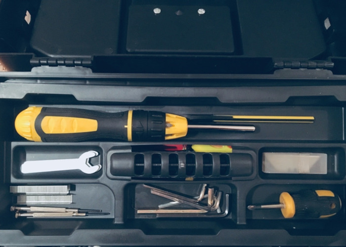 Tool box with tools: handy, everyday  - 2