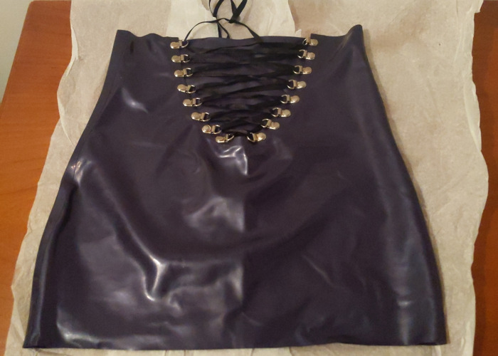 Top and Skirt Latex Purple - 1