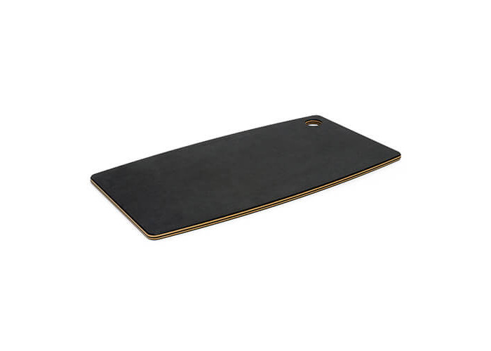 TopGourmet Bread Board Cutting and Chopping Board, Compressed Wood Composite, 45 x 25 x 0.93 cm, Black Slate/Natural - 2