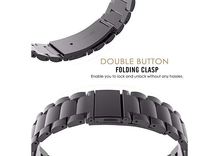 TOPsic Strap for Garmin Fenix 5 Band- Replacement Stainless Steel Watch Band Met - 1