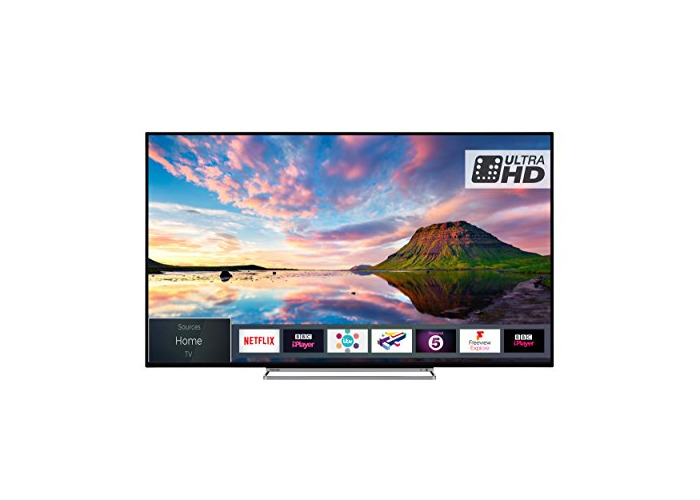 Toshiba 43U5863DB 43-Inch Smart 4K Ultra-HD HDR LED TV with Freeview Play - Black/Silver (2018 Model) - 1