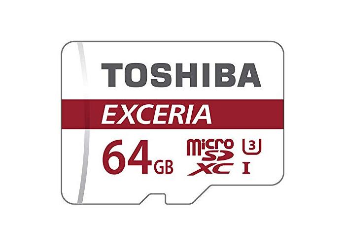 Toshiba Exceria M302 64GB Micro SD Memory Card 90 MB/s 4K - THN-M302R0640EA - 1