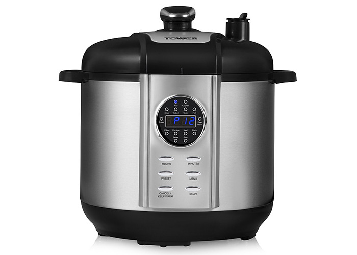 Tower T16005 Digital Pressure Cooker, 1100 W, 6 L - Silver - 1