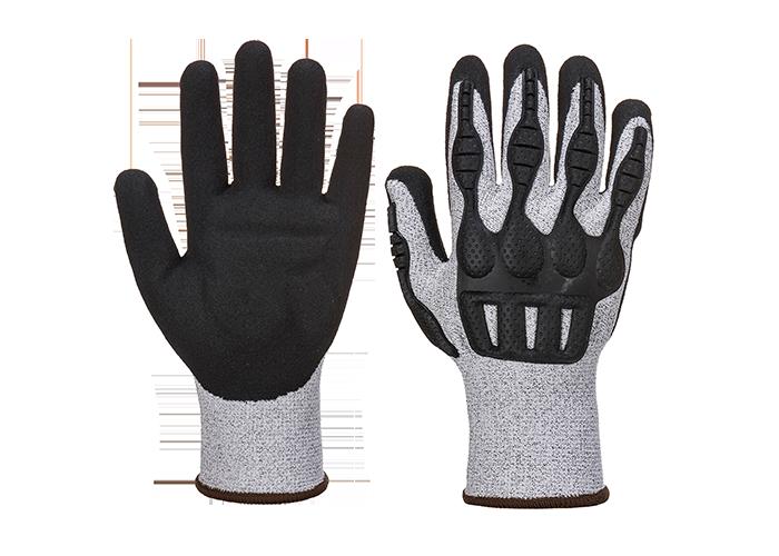 TPV Impact Cut Glove  GreyBk  Medium  R - 1