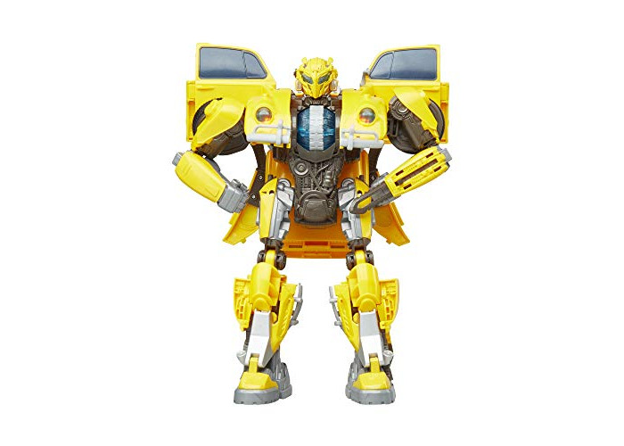 Transformers: Bumblebee Movie Toys, Power Charge Bumblebee Action Figure - Spinning Core, Lights and Sounds - Toys for Kids 6 and Up, 10.5 Inch - 1