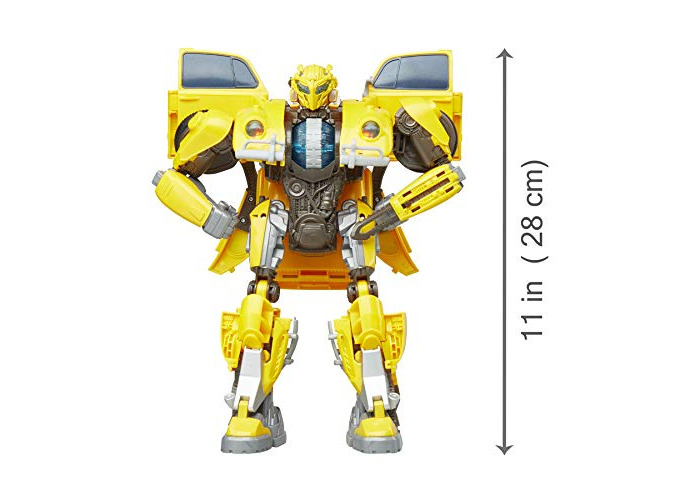 Transformers: Bumblebee Movie Toys, Power Charge Bumblebee Action Figure - Spinning Core, Lights and Sounds - Toys for Kids 6 and Up, 10.5 Inch - 2