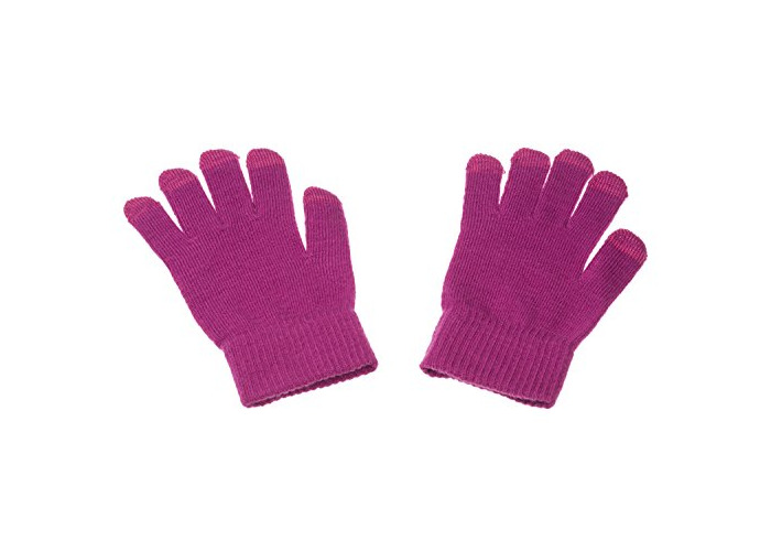 Trendz Cable Knit Fashion Stylish Warm Touchscreen Gloves For Use With Capacitive Touchscreen Smartphones - Pink - 1