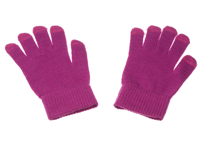 Trendz Cable Knit Fashion Stylish Warm Touchscreen Gloves For Use With Capacitive Touchscreen Smartphones - Pink - 2