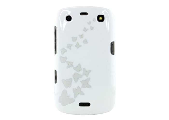 Trendz Protective Clip-On Hard Shell Case Cover for BlackBerry Curve 9360 - Butterflies - 1