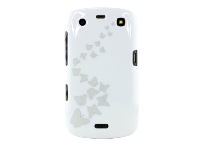 Trendz Protective Clip-On Hard Shell Case Cover for BlackBerry Curve 9360 - Butterflies - 2